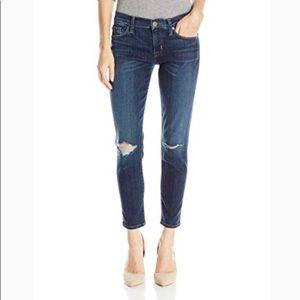 Hudson Women's Finn Boy Distressed Skinny Jeans